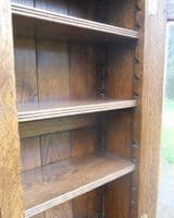 Quality Oak Cabinet Bookcase